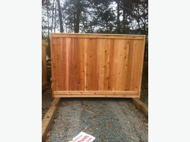 CEDAR FENCE PANELS SECONDS