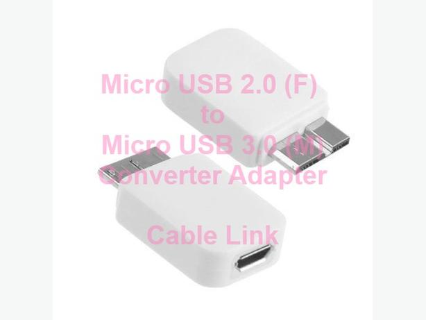 Micro USB 2.0 (F) to Micro USB 3.0 (M) Converter Adapter