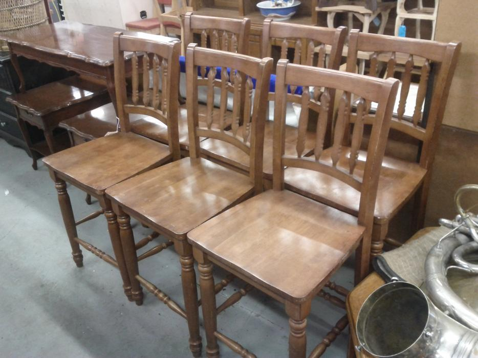Wood Counter High Stools (3 Left)