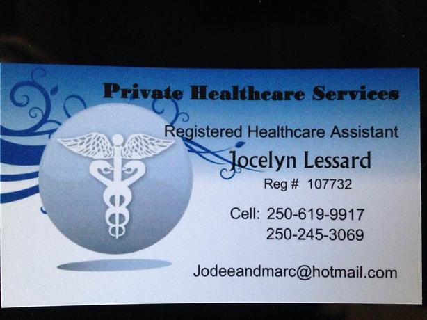 REGISTERED HEALTH CARE ASSISTANT   PRIVATE CARE
