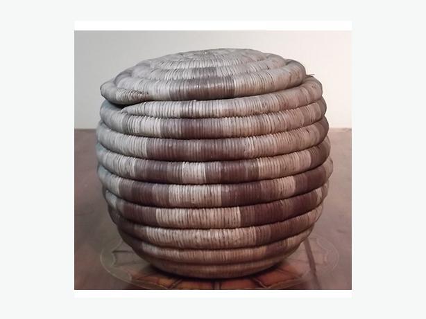 Antique Northwest coast native coil basket