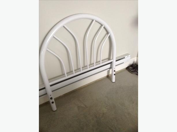 White single bed headboard