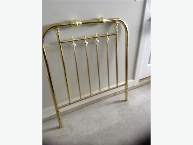 Brass look single bed headboard