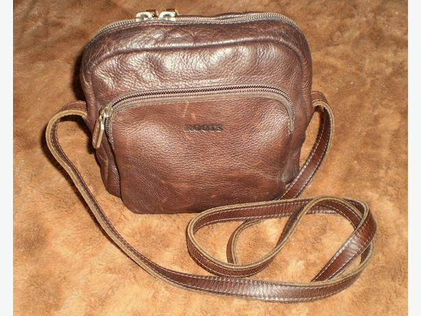 Roots Brown Leather XBody Purse