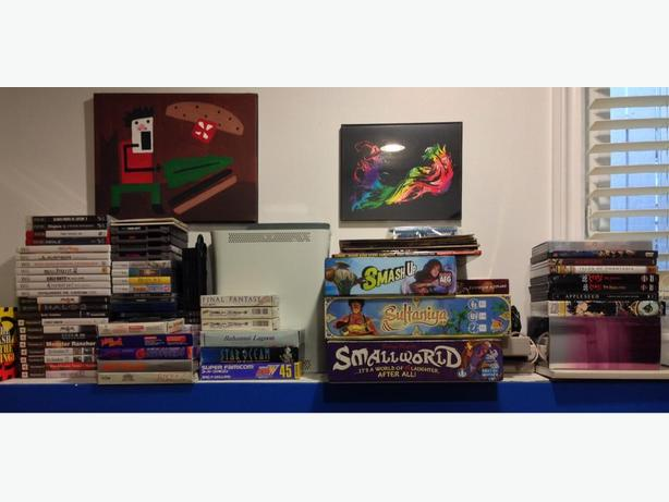 Large Video Game Sale 1 - Includes Board Games + Misc