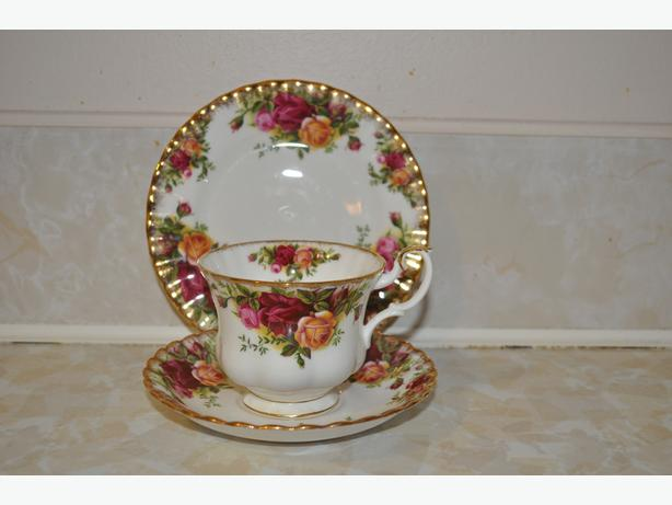 """Old Country Roses""  fine china"