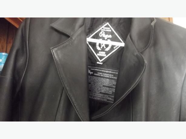 Black leather (lamb) blazer type jacket