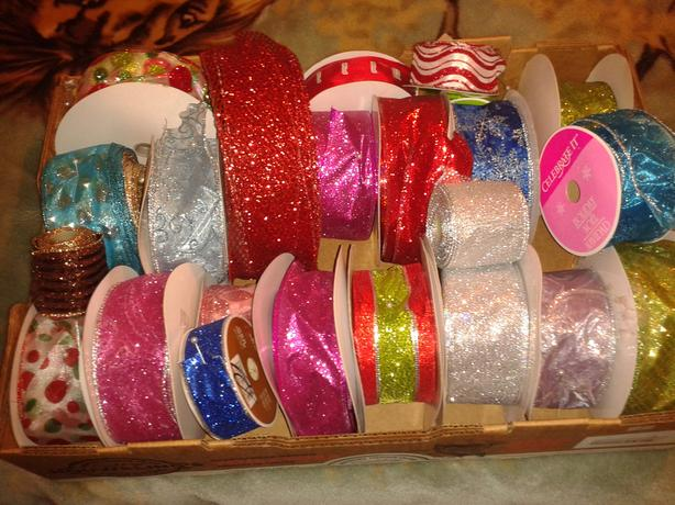 RIBBONS mostly for Christmas
