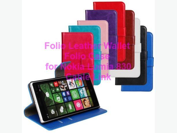 Wallet PU Leather Folio Card Holder Case for Nokia Lumia 830