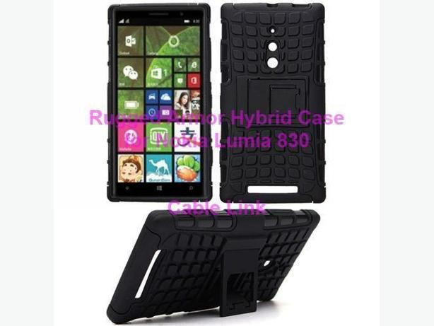 Rugged Armor Impact Case Cover Stand For Nokia Lumia 830