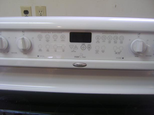 Whirlpool range with ceramic cook top self cleaning