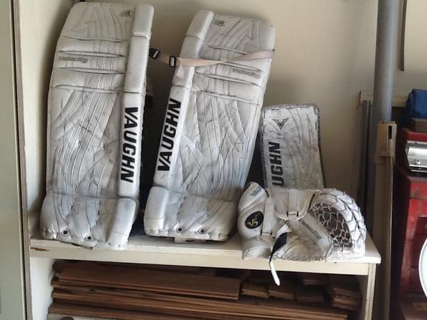Vaughn pads, glove & blocker