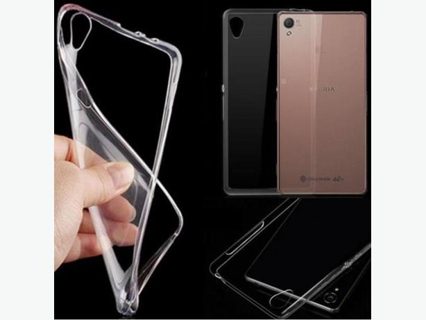 Clear Soft TPU Back Skin Case Cover for Sony Xperia Z3