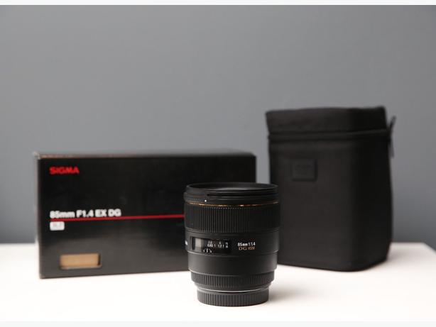 Sigma EX 85mm f/1.4 HSM DG EX Lens For For Canon