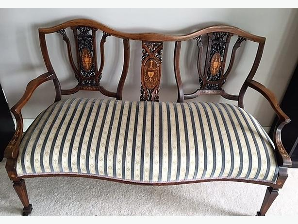 Vintage Hand-carved Settee