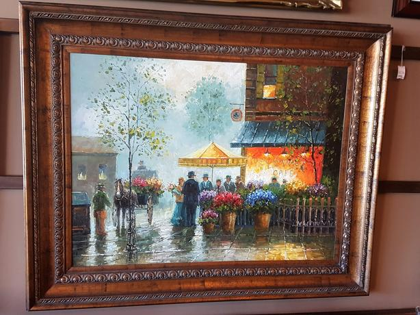 Large Oil Painting with Certificate of Authenticity