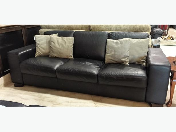 Italisofa Black Leather Couch