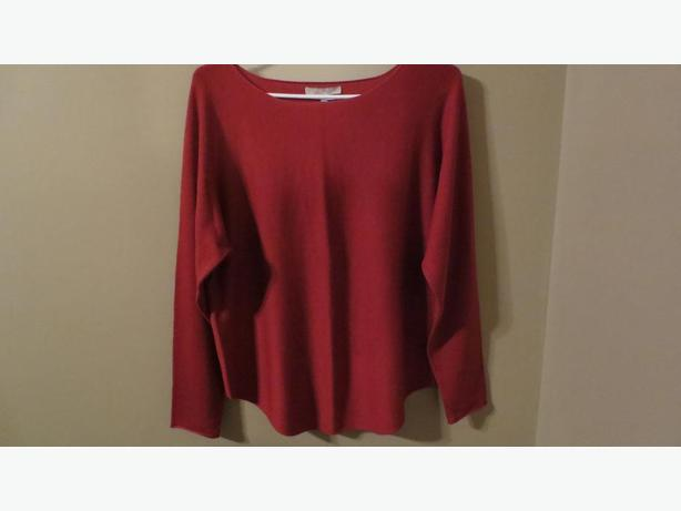 JOAN VASS STUDIO ORANGE SWEATER