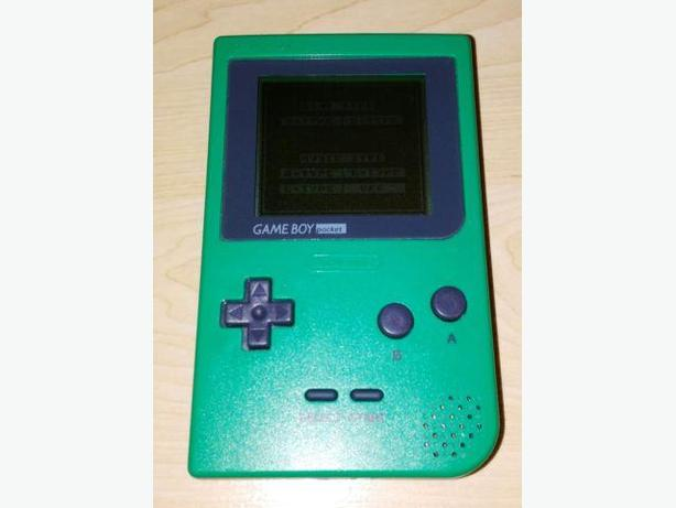 Green Gameboy Pocket System With $30 Towards Games