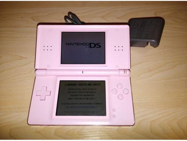 Pink Nintendo DS System With Charger & Stylus