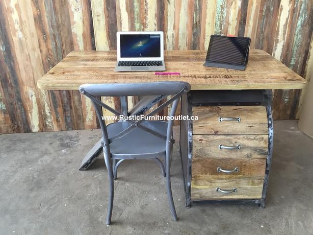 Scandinavian style rustic industrial office desk with FREE CHAIR