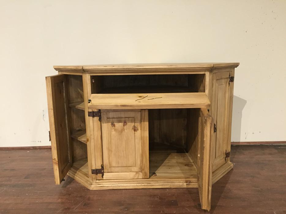 Rustic pine corner TV stand  meuble rustique en coin pour TV Outside Ottawa -> Table Tv Coin