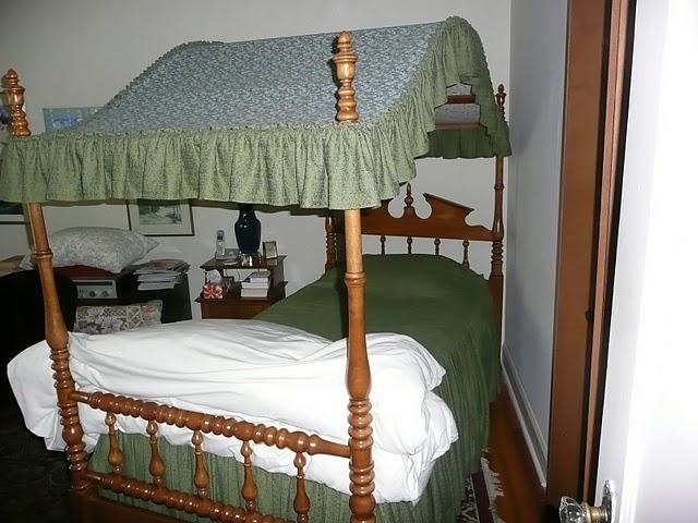 Maple canopy bed single made by cal shops oak bay victoria for Single bed tent canopy