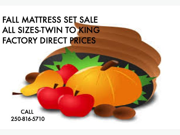 FALL SALE ON FACTORY DIRECT MATTRESS SETS