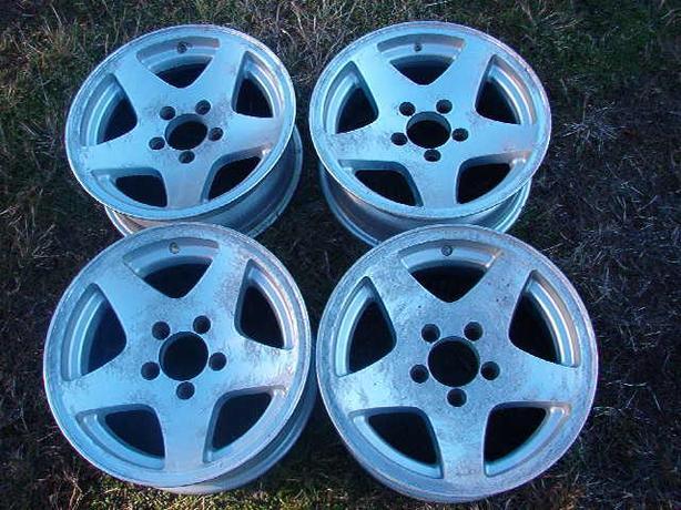 Four Alloy Trailer Wheels
