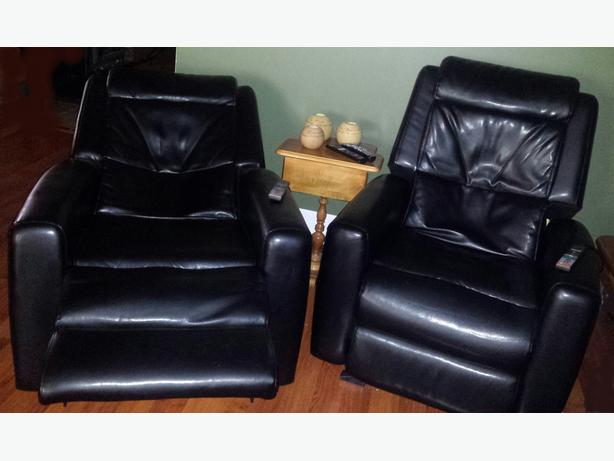 MASSAGE RECLINERS - SET OF 2