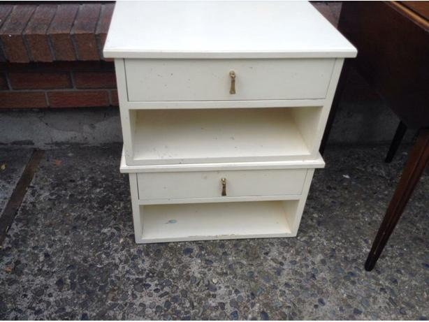 a pair of end tables