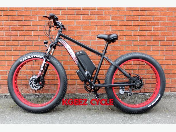 """2016 Kgeez """"GRIZZLY"""" dual """"36Volt DUAL LITHIUM"""" fat wheel"""