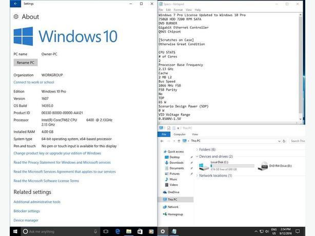 $150 · Dual Core Windows 10 750GB HDD 4GB Small Form Factor Dell