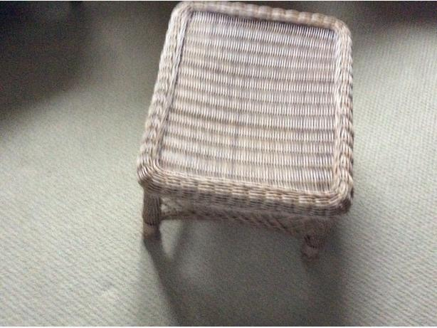 Resin wicker foot stool or mini coffee table