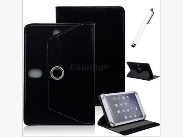 "Universal PU Leather Folio Rotating Stand Case for 7"" Tablet or 6"" E-Reader"
