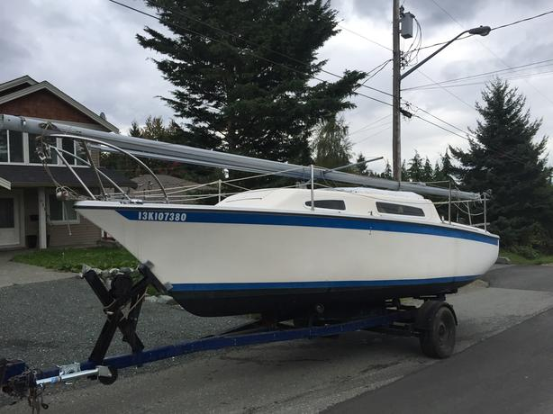 23' Sailboat on trailer