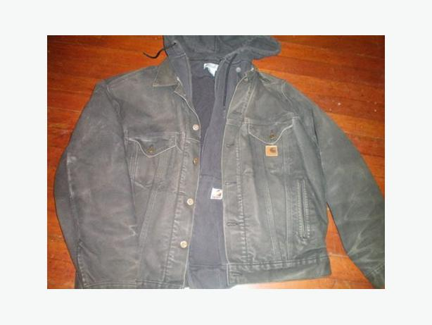 Mens Large Carhartt Jacket and Zip up sweater combo