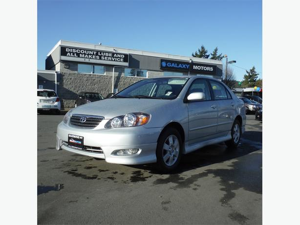 2005 Toyota Corolla Sport - 5 spd Manual, Power Moonroof