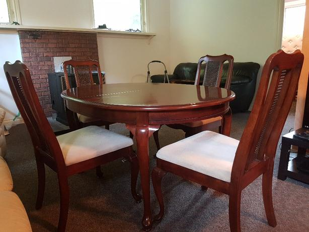 solid wood dinning set, and 2 piece China cabinet