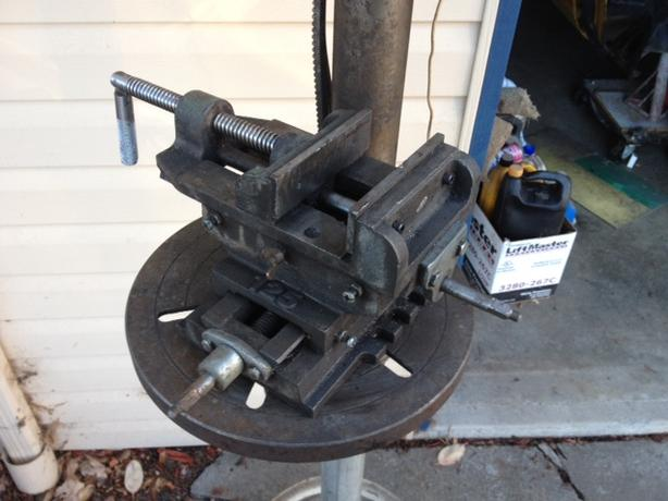 Cross Slide Drill Press Vice