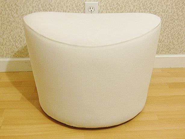Ikea STOCKHOLM Swivel Footstool Ottoman - Rostanga white