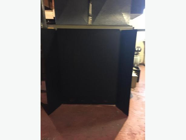 freestanding folding black stove pipe heatshield