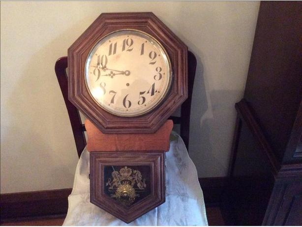 Vintage Reproduction School Clock (circa 1970)