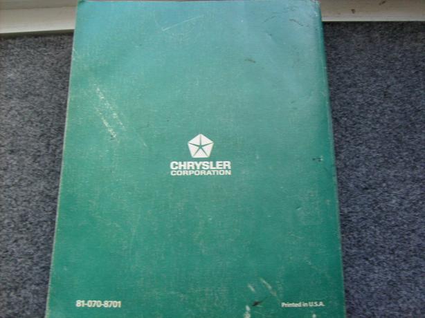78 dodge service book