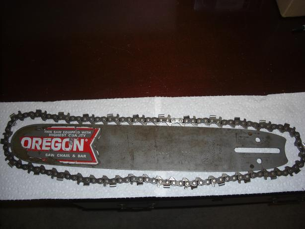 Vintage Chainsaw Oregon Bar, and Chain