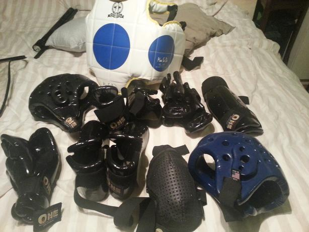 2- Sets Of  SPARING GEAR & Chest Protector