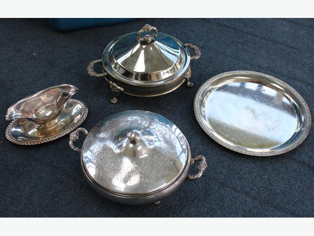 Various decorative plates & Silver Ware