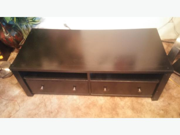 GREAT BLACK 2 DRAW COFFEE TABLE/T.V STAND/OR ENTERTAINMENT CENTRE