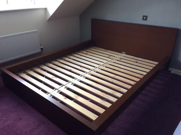 queen size ikea malm bed frame victoria city victoria. Black Bedroom Furniture Sets. Home Design Ideas