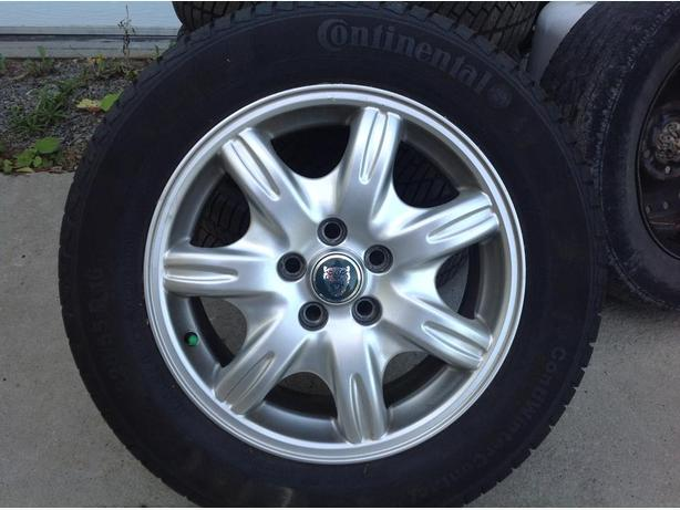 Jaguar rims and winter tires for sale